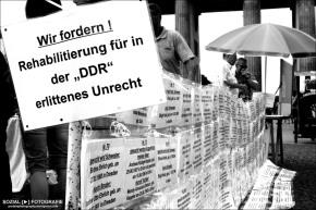 Demo zum Thema: Aufarbeitung vonDDR-Unrecht