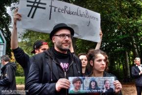 Kundgebung für die unrechtmäßig in der Türkei verhaftetenJournalisten