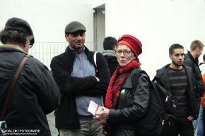 Intifada3 vor dem Bundeskanzleramt Berlin mit AnnetteGroth