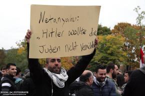 Netanjahu in Berlin – Pro palästinensischer Gegenprotest