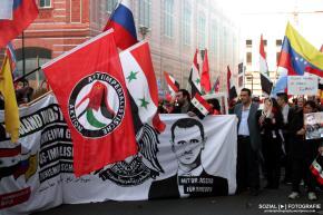 Pro Syrien – Russland – Hisbollah – links und rechtsvereint!