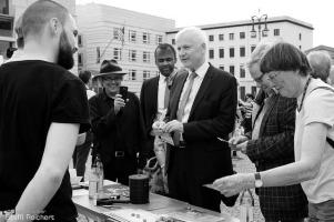 Eine politische Demonstration mit Zeitzeugen und der Stör-Aktion von Unentdecktes Land, 2016