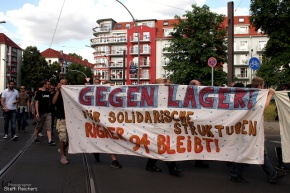Demonstration: Wohnungen stattLager!