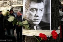 Boris Nemzow Gedenken vor der Russischen Botschaft Berlin